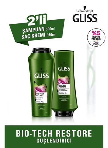 Gliss Bio-Tech Restore Güçlendirici Bakım Seti (şampuan 500 Ml + Saç Kremi 360 Ml) Renksiz